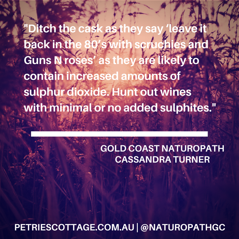 Gold Coast Naturopathy: Wine, preservatives and organic alternatives